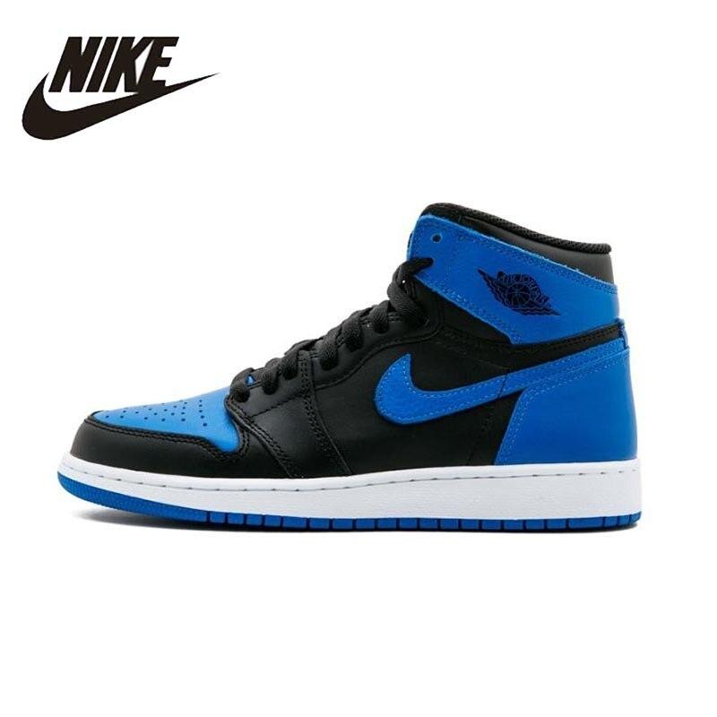 Nike Air Jordan 1 OG Rétro Royal AJ1 Mens chaussures de basket Respirant En Plein Air baskets confortables Pour chaussures pour hommes #555088-007