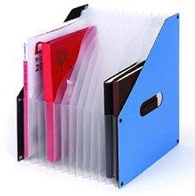 Comix A1489 Organ Folder File Holder A4,12compartment,size : 255*320*60mm 342 G Colour Black Blue , Random Color , Free Shipping ручки swarovski 5351070