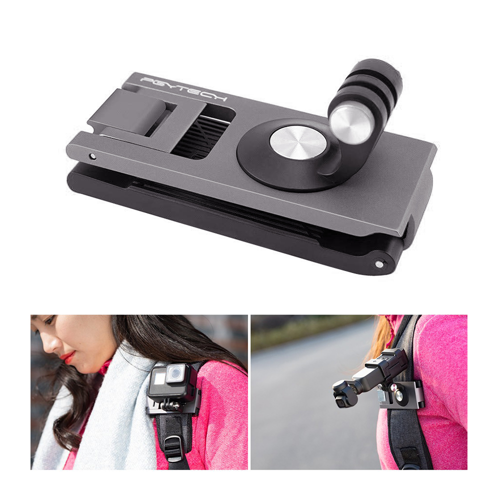 Backpack Clip Bag Clamp Extension Fixed Connection Strap Holder Adapter For DJI Osmo Action Pocket Gopro Hero Xiaomi