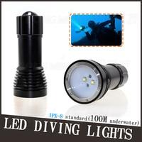 New Waterproof 4000 Lumens 4x CREE XM L2 LED Diving Flashlight UnderWater 100m Depth Bright LED