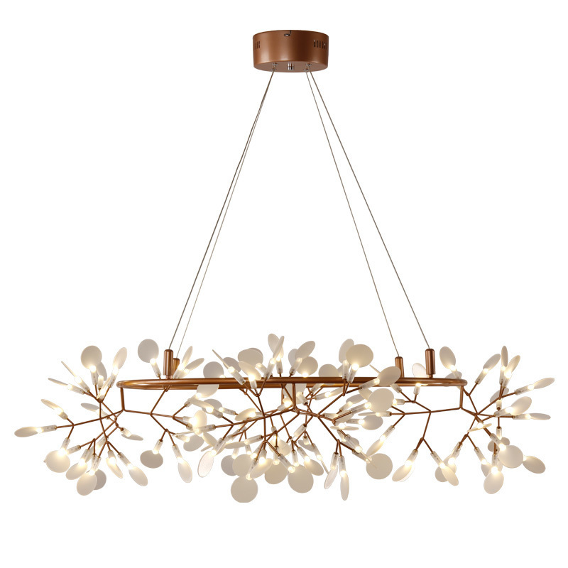Modern Circle Tree Branch Led Pendant Light Creative Leaves Firefly Nordic Living Room Restaurant Hall Lobby Lamp modern circle tree branch led pendant light creative personality firefly dia 210cm nordic living room restaurant hall lobby lamp
