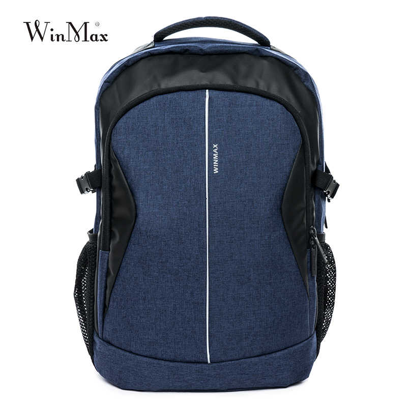 Winmax фирменный рюкзак для ноутбука Мужская Дорожная сумка 2019 Многофункциональный рюкзак Водонепроницаемый зеленый синий уличные рюкзаки для подростка