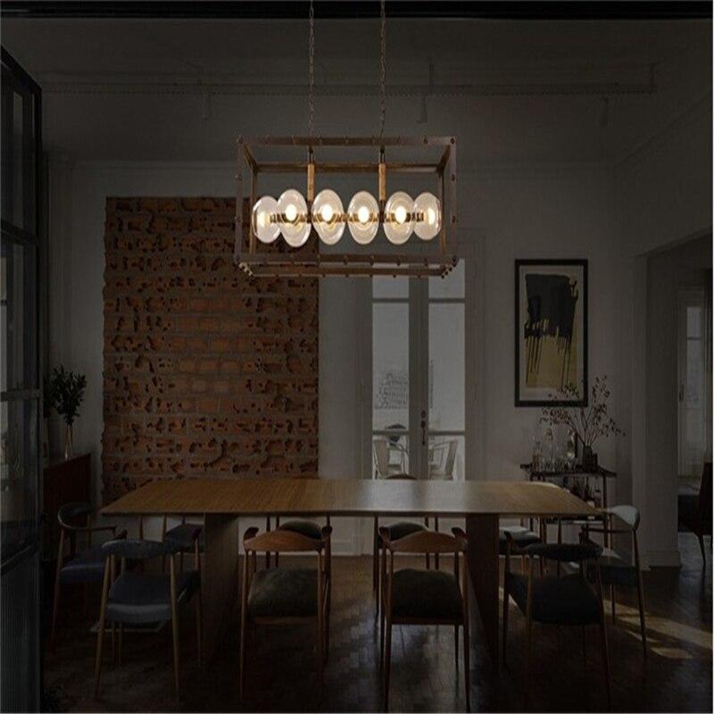 Glass Ball Pendant Lights Vintage Art Deco Suspension Lamp Bar