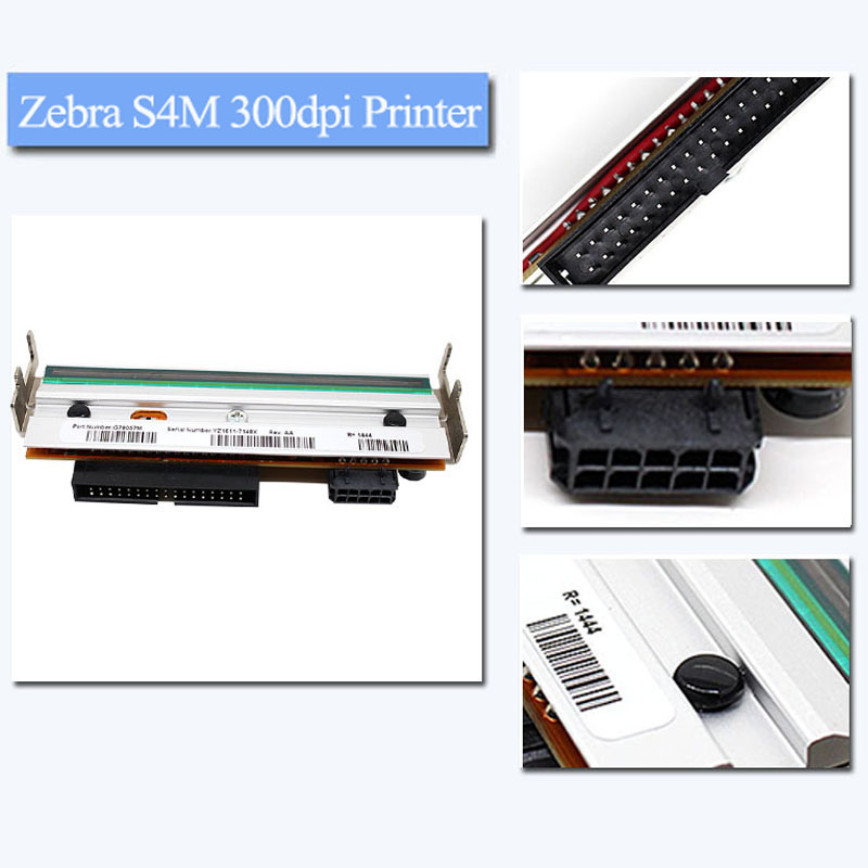 New Zebra S4M 300dpi Printer head printhead For Zebra S4M printhead Thermal BarCode Printers G41401M 2016 new gp58130ic barcode printers thermal printer support 58mmusb network port automatic paper cutting