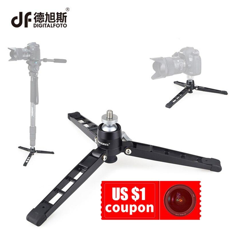 DIGITALFOTO DSLR caméra Mini trépied Support tout bureau en métal table trépied pour monopode vidéo avec rotule 1/4