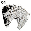 Free shipping Baby pants Girl leggings Cotton Stripes & Grids &Geometry Printing Spring Fall Baby boy pants trousers Harem pants