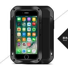 Для iPhone 7 4.7/7 плюс 5.5 чехол оригинальный ЛЮБОВЬ МЭИ Мощный алюминиевый чехол противоударный 360 Защита ж/ закаленное стекло закаленное
