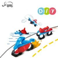 22Pcs DIY Mini Magnetic Designer Building Blocks Strips Kids Toy Construction Model Educational Toys Christmas Gift