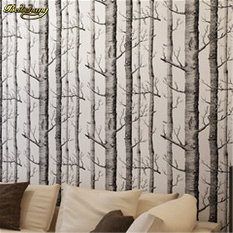 beibehang papel de parede 3D Tree pattern modern wallpaper roll wallcovering woo wall paper Background wallpaper for living room snow background wall papel de parede restaurant clubs ktv bar wall paper roll new design texture special style house decoration