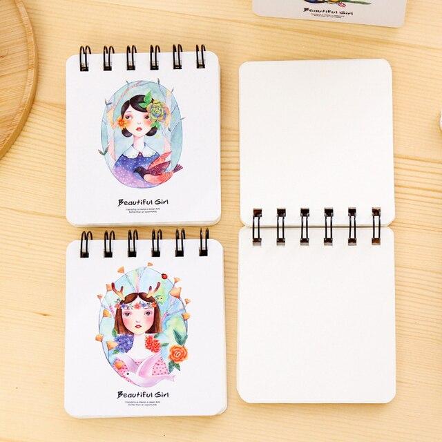 leuke hard cover coil boek draagbare pocket spoel notebook dagelijks