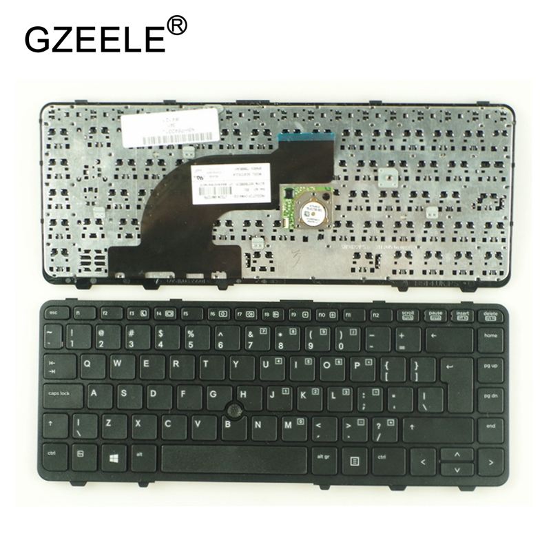 GZEELE New US Laptop Keyboard For HP ProBook 640 G1 645 G1 With/without Frame English Keyboards Black