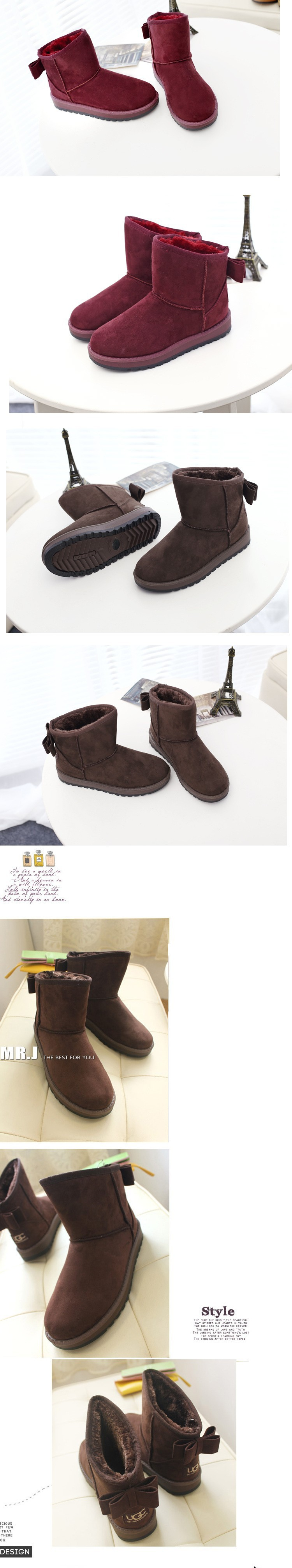 2015 Brand Women Winter Snow Boots Fashion Fur Boots high heels women Boots Shoes High Increased botas Mujer New Arrival B