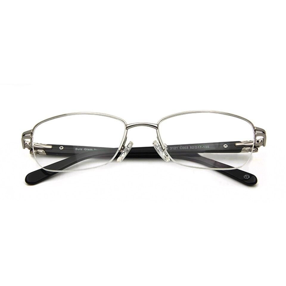 Märkesdesigner Kvinnor Glasögonramar Diamond Half Frame Women's - Kläder tillbehör - Foto 5