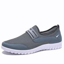 где купить 2019 Big Size 38-48 Men's Casual Shoes Sneakers Summer Mesh Breathable Comfortable Men Shoes Loafers footwears Slipon Walking по лучшей цене