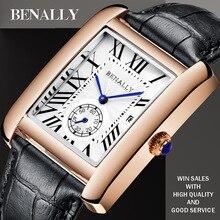 Top Brand Luxury Men Watches Fashion Waterproof Quartz Watch Gentlemen Wristwatch British Style Male Leather Clock