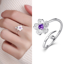 Fashion 1PC Branch Cherry Blossom Ring For Women Girls Cute Simple Flower Opening Wholesale