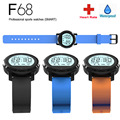 Heart Rate F68 Bluetooth Smart Watch IP67 Waterproof Pedometer Sleep Monitor Call Sedentary Remind with 2 Starps for Smartphone