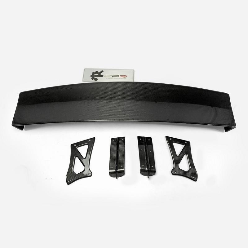 R35 Carbon Fiber GT Wing GTR GT R Glossy Fibre VRS Style Euro Edition Rear Trunk Spoiler Auto Boot Body Kit Car Accessories Trim