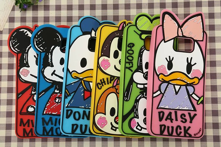 Hot Cartoon Graffiti Mickey Minnie Mouse Donald Daisy Duck Silicone Phone Case Cover For Samsung Galaxy Note 5 Note5