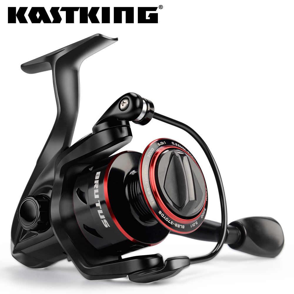 KastKing Brutus إطارات دراجة تسلق الجبال خفيفة الوزن الغزل الصيد بكرة 8 كجم ماكس السحب 4 + 1 الكرات 5.0:1 نسبة والعتاد المياه العذبة الكارب الصيد لفائف