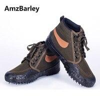 AmzBarley Men Shoes High Top Army Green Shoe Footwear Combat Military Fishing Hunting Casual Walking Man