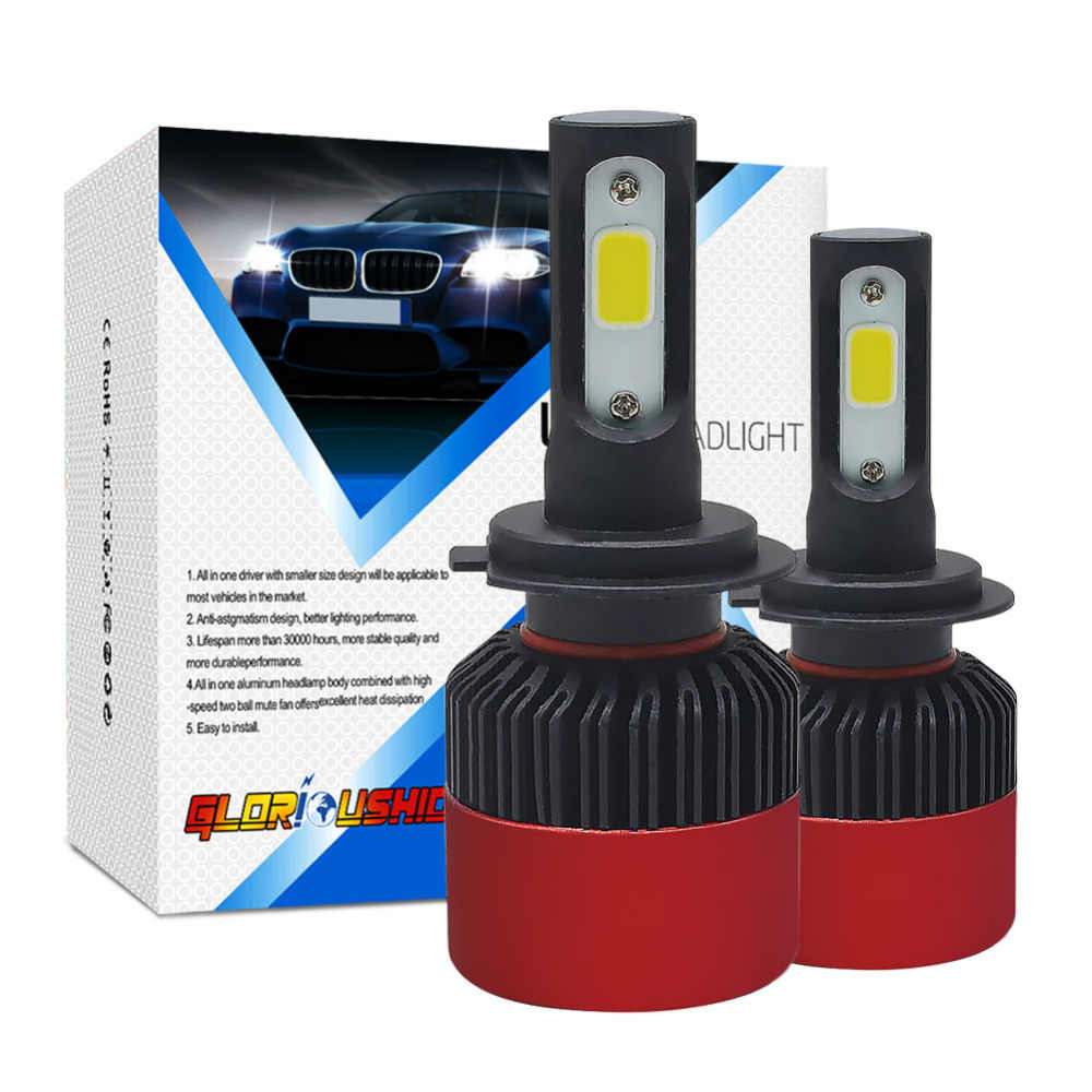 One Pair H7 Led Headlight Bulb H4 H11 H1 H3 9005 HB3 9006 HB4 Led Car light 72W 8000lm 6500k Auto Fog Lamp Headlights 12V
