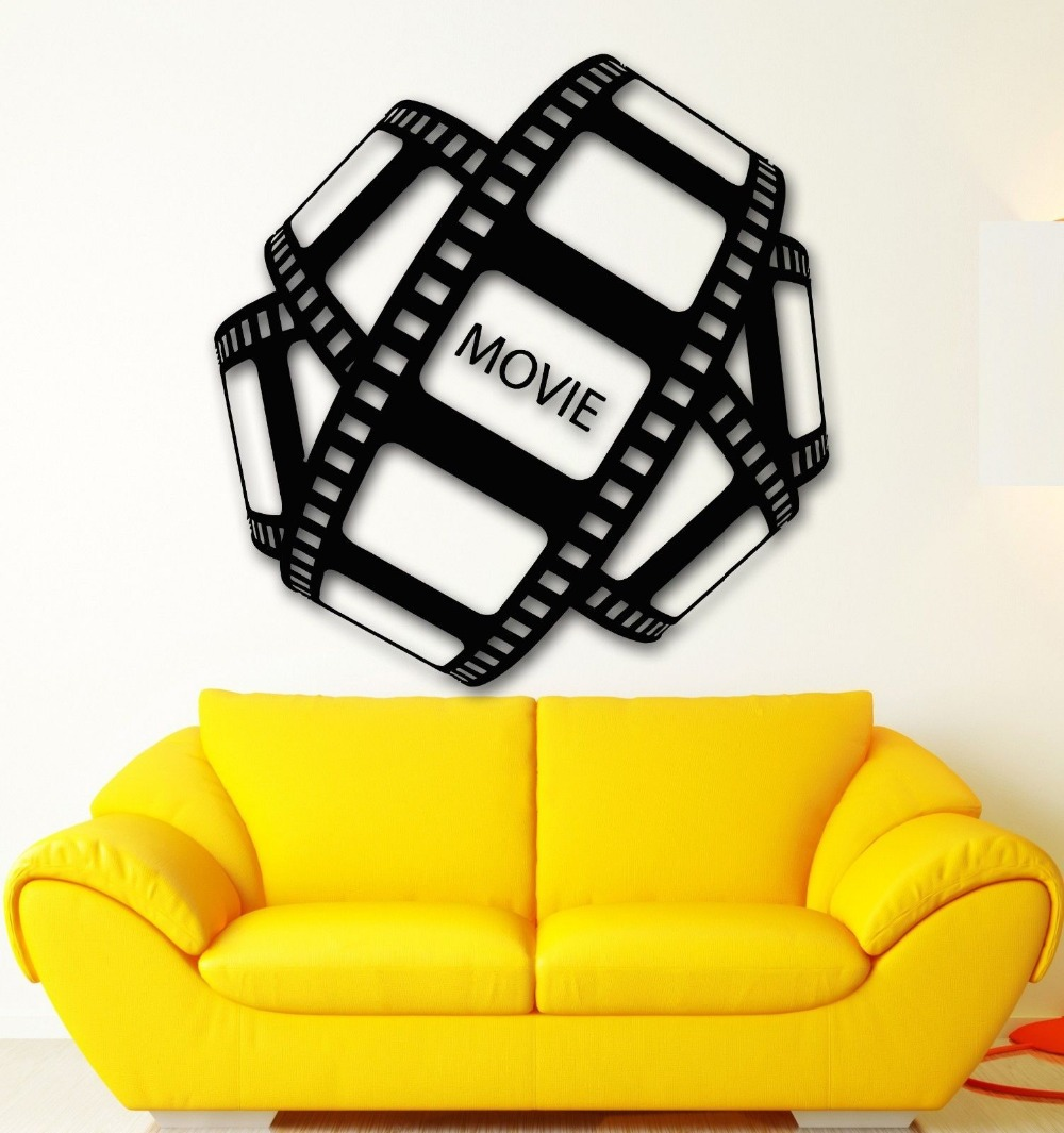 Film Vinyl Wall Decal Movie Film Hollywood Cinema TV Decor Living ...