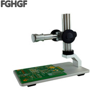 FGHGF Endoscope base bracket Mounting aperture 12mm Handheld endoscope mount Full metal bracket USB pen microscope