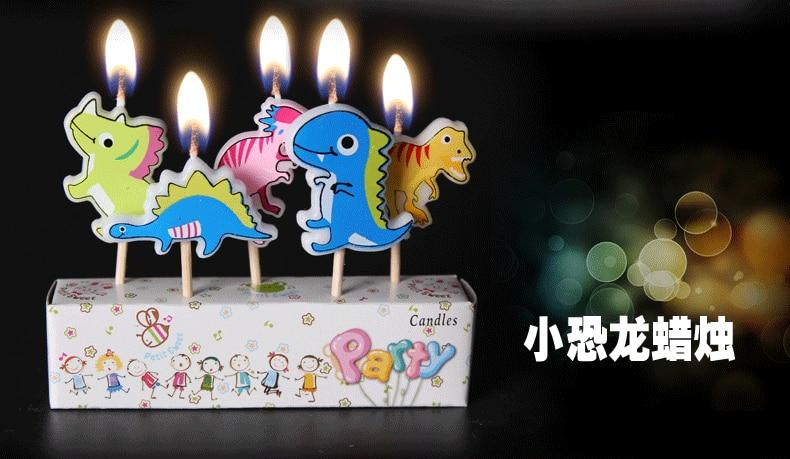 Dinosaur Eco Friendly Harmless 2016 New Design Factory Price Cartoon Series Irregular Birthday Art Candles Dinossauro Festa
