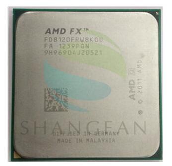 AMD FX-סדרת FX-8120 FX 8120 3.1 GHz שמונה ליבות מעבד מעבד 125 W FX8120 FD8120FRW8KGU שקע AM3 +