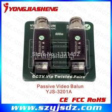 3 Pairs free shipping PURE COPPER BNC CCTV Passive Video Balun