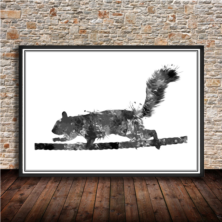 Hot sale Animal postersquirrelKraft paper wall sticker vintage retro poster print painti ...
