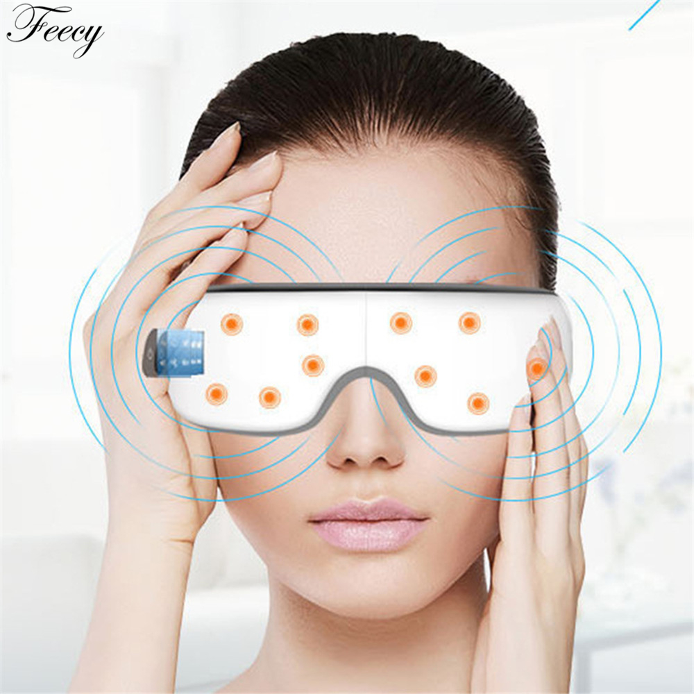 Eye Massager Mask Migraine Eye Vision Improvement Forehead Eye Care Glasses Massager Health Care Electric massage Tools 2 Colors
