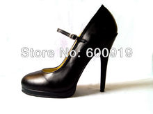 Free shipping 14CM Heel Height Sexy Genuine Leather Pointed Toe Thin Heel Pumps Party Shoes heels US size 5-14.5 No.Y1402