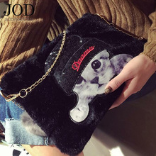 JOD Large Cat Sequin Patches Clothes Sewing Applications for Clothing Applique Embroidered Stickers Bag Children Baby Custom