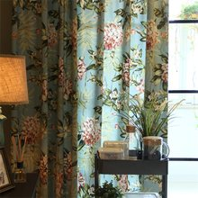 American Pastoral Flower Print Curtain Living Room Bedroom Window Treatment Blinds Cortinas Salon Modern Home Decoration L22&4(China)