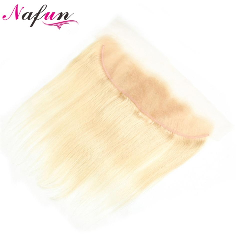 NAFUN бразильские прямые волосы 13*4 613 Кружева Фронтальная застежка уха до уха фронтальная 100% натуральные волосы свободная Часть Кружева Закры...