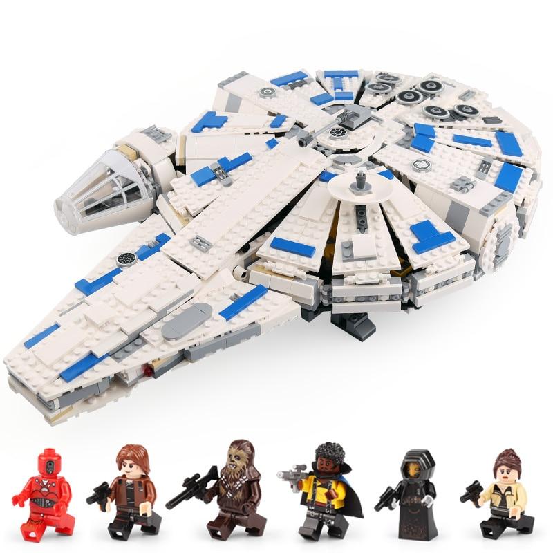 Lepin 05142 New Toys 1584Pcs Star Plan Series The 75212 Kessel Run Millennuim Falcon Set Building Blocks Bricks Kids Toys Gifts