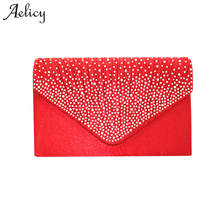 ee0e4a2bc3e Aelicy Mode Dames Grote Avond Handtassen Vrouwen Vintage Lederen Satin  Bridal Diamante Clutch Bag Party vrouwen