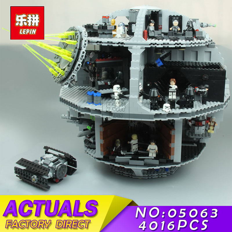 New Lepin 05063 4016pcs Force Waken UCS Death Star Educational Building Blocks Bricks Toys Compatible 75159 new 1685pcs lepin 05036 1685pcs star series tie building fighter educational blocks bricks toys compatible with 75095 wars