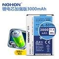 100% original nohon bateria de alta capacidade 3000 mah para lg g3 d858 d855 d830 f400l d850 d851 vs985 baterias de substituição