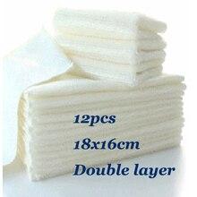 12 шт. кухонное посудное полотенце Бамбуковое волокно 16*18 мм Анти-жирное