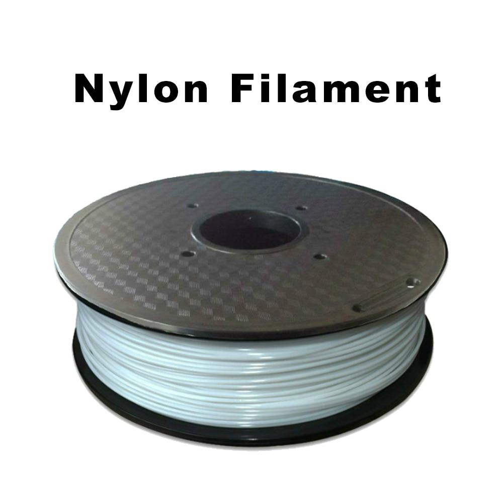 Filament d'imprimante 3D en Nylon FLEXBED 1.75mm blanc 1kg bobine, Compatible avec l'imprimante 3D Makerbot/UP/Afinia/Robo