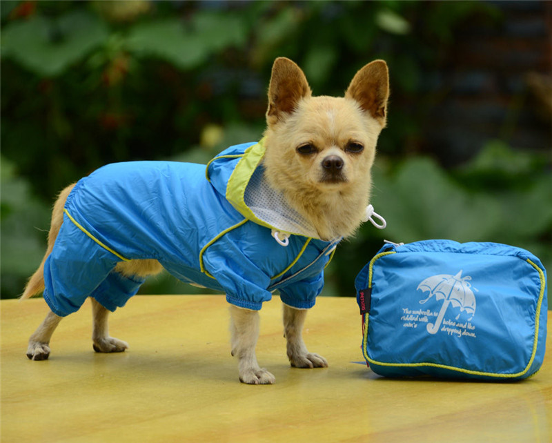 Pets Dog Raincoat Clothes Four Feet Dog Waterproof Puppy Casual Raincoat Pet Hoodie Jacket Size XXS XL For Dog Clothes Rain in Dog Raincoats from Home Garden