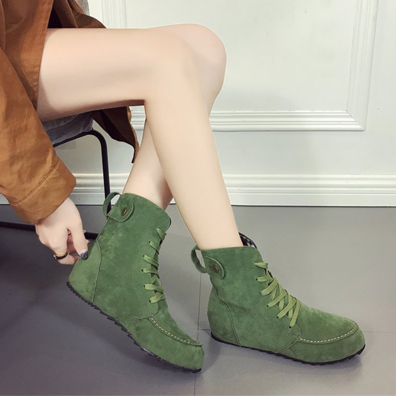 2018 Ladies Boots Round Toe Flat Shoes Woman Ankle Boots Lace Up Canvas Boots Women Casual Shoes Comfort Autumn Shoes Woman шторы homedeco нитяные шторы мудрость востока цвет белый
