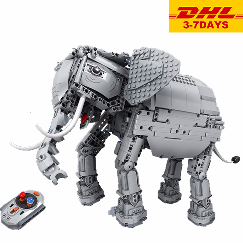Winner 7107 Technic Creative RC Remote Control Elephant Animal Electric Buidling Blocks Toys For Children