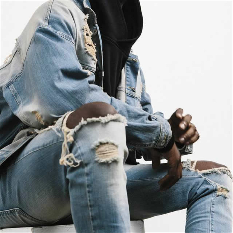 Hole Jeans Represent Clothing Designer Pants Black Destroyed Mens Slim Denim Straight Biker Skinny Men Ripped Jeans 2016 new arrival ankle boots for women fashion winter shoes warm plush snow boots shoe bowtie women boots polka dot botas mujer