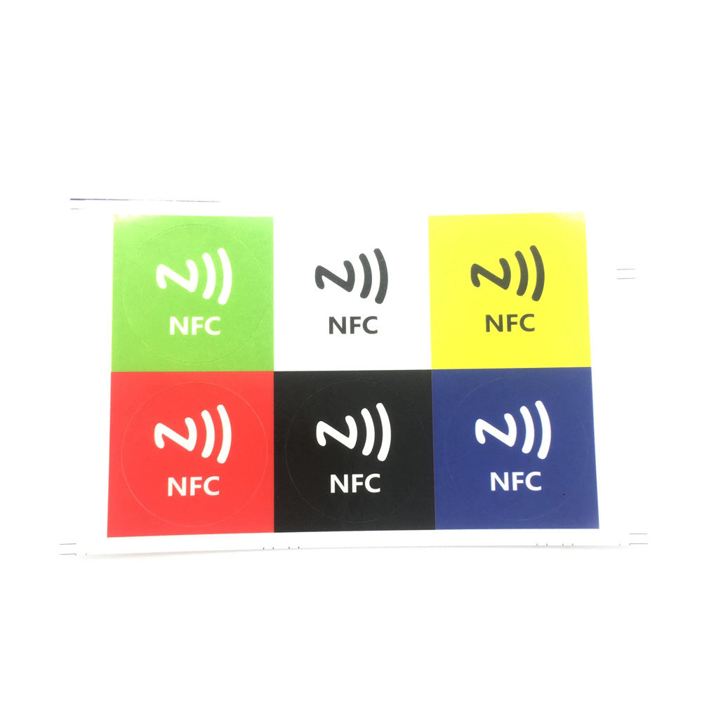 NFC Ntag213 Tag Sticker 13.56MHz NTAG203 Universal Label NXP Support Android NFC Phone 6Pcs