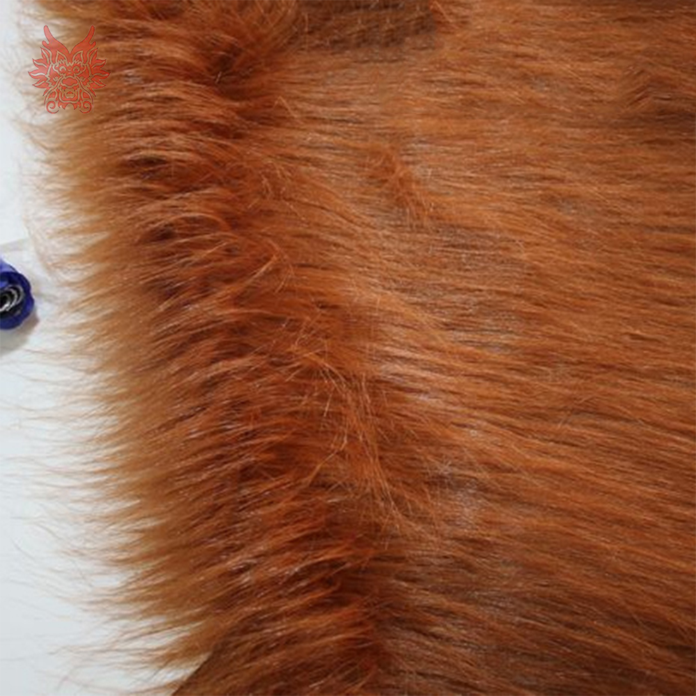Brown 9cm Plush Faux Fur Fabric For Winter Coat Vest Stage Cosplay Decor Long Fur Fabric Tissue DIY 150*50cm 1pc SP5418