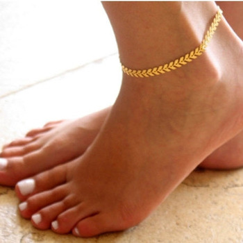 Antique Gold Silver Color Arrow Shape Pendant Anklets for Women Summer Beach Barefoot Chain Anklets Bohemian Alloy Foot Jewelry